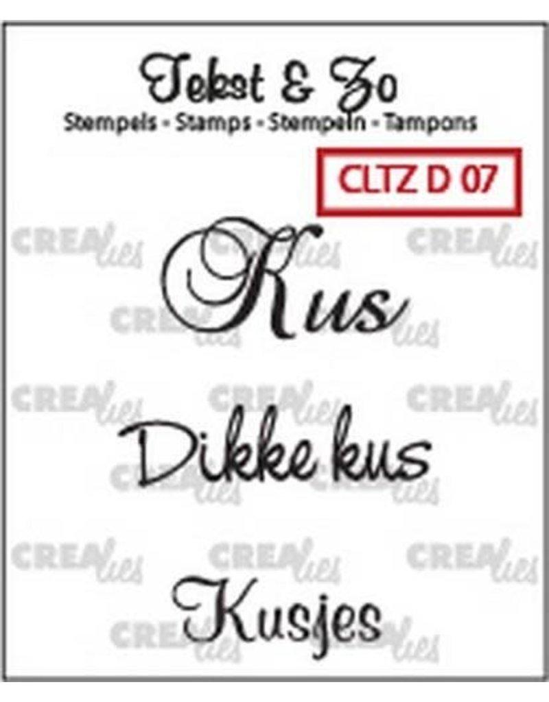 Crealies Crealies Clearstamp Tekst&Zo  kus Divers 7 (NL) CLTZD07