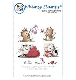 Wimsy Stamps Whimsy Stamps Playful Kittens Rubber Cling Stamp SZWS142