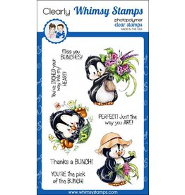 Whimsy Stamps Whimsy Stamps Penguin Gardener Clear Stamps C1282