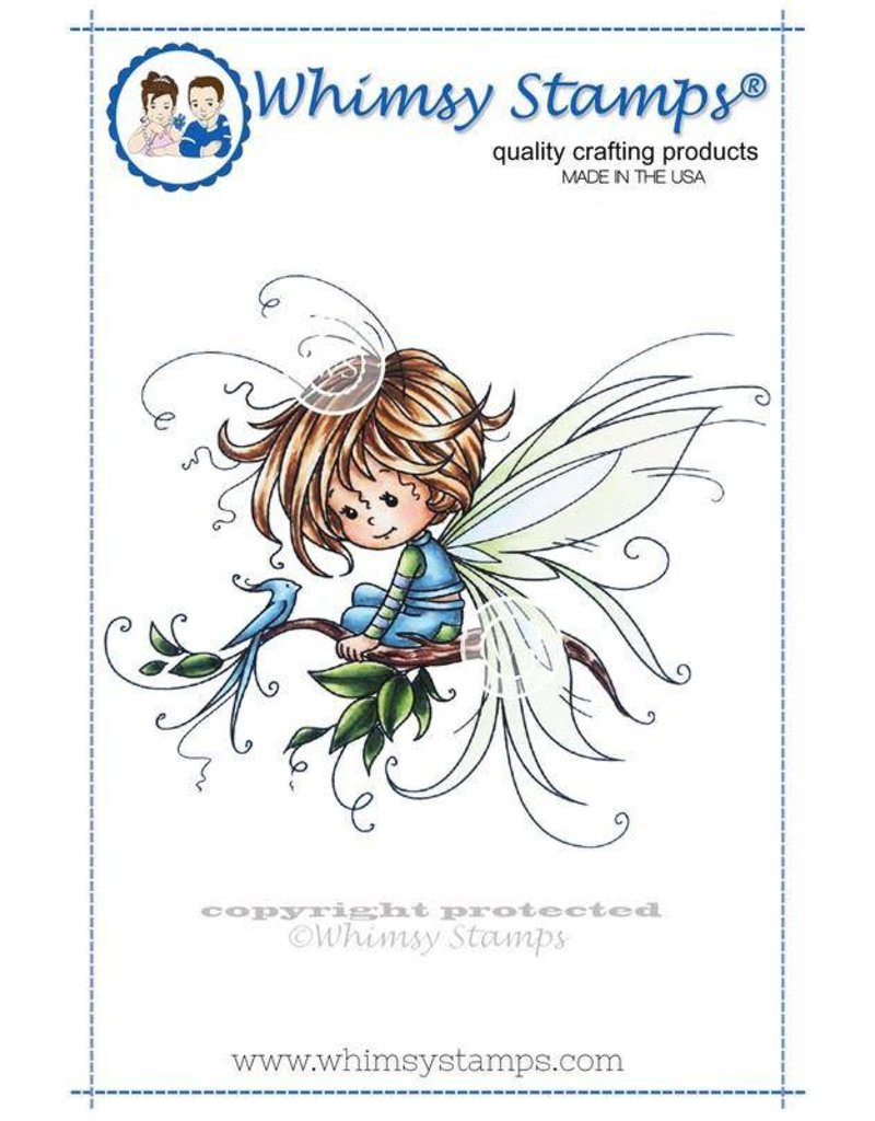 Wimsy Stamps Whimsy Stamps Pixie Rubber Cling Stamp SWZS179