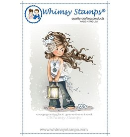 Whimsy Stamps Whimsy Stamps Hopeful Rubber Cling Stamp SZWS126