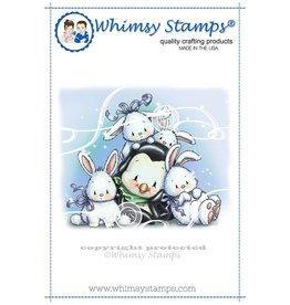 Wimsy Stamps Whimsy Stamps Penguin's Bunch of Bunnies Rubber Cling Stamp C1308