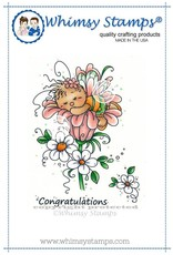 Wimsy Stamps Whimsy Stamps Sleeping Cutie Rubber Cling Stamp SWZS208