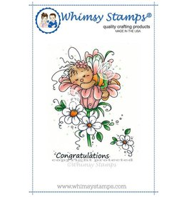 Whimsy Stamps Whimsy Stamps Sleeping Cutie Rubber Cling Stamp SWZS208