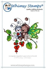 Wimsy Stamps Whimsy Stamps Sympathy Bugs Rubber Cling Stamp SWZS120