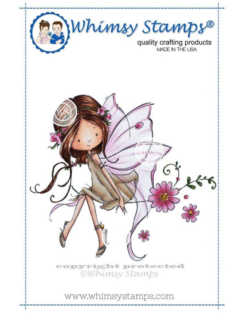 Wimsy Stamps Whimsy Stamps Giselle the Fairy Rubber Cling Stamp MF117