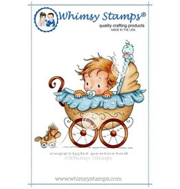 Wimsy Stamps Whimsy Stamps Wee One Rubber Cling Stamp SWZS154