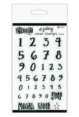 Ranger Ranger Dylusions Dyalog Clear Stamp Set Numerology DYB65371 Dyan Reaveley