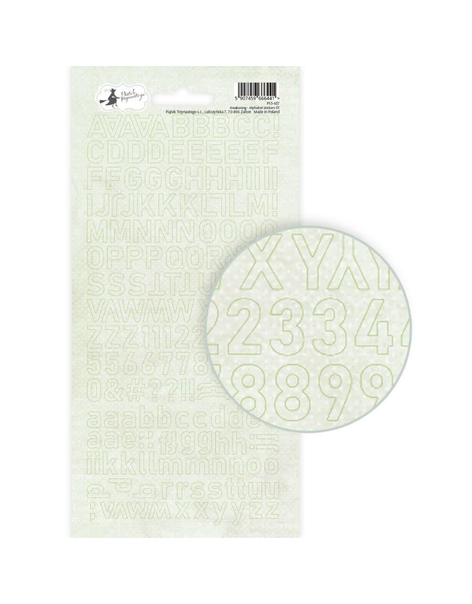 Piatek Piatek Alphabet sticker sheet Awakening 01