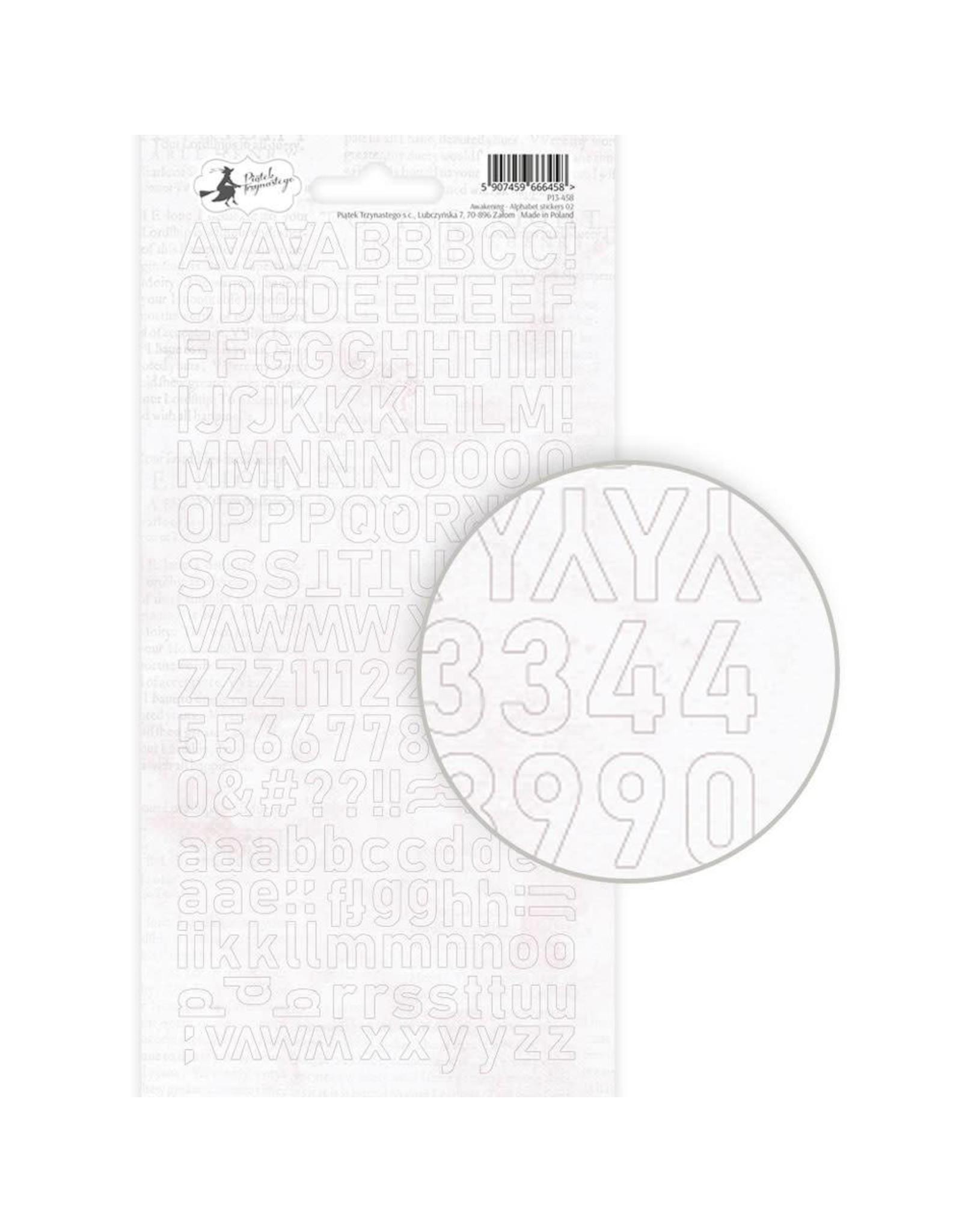 Piatek Piatek Alphabet sticker sheet Awakening 02