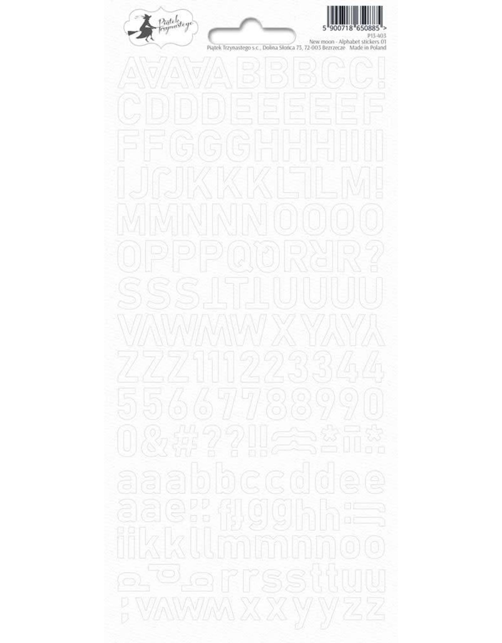 Piatek Piatek Alphabet sticker sheet New moon 01