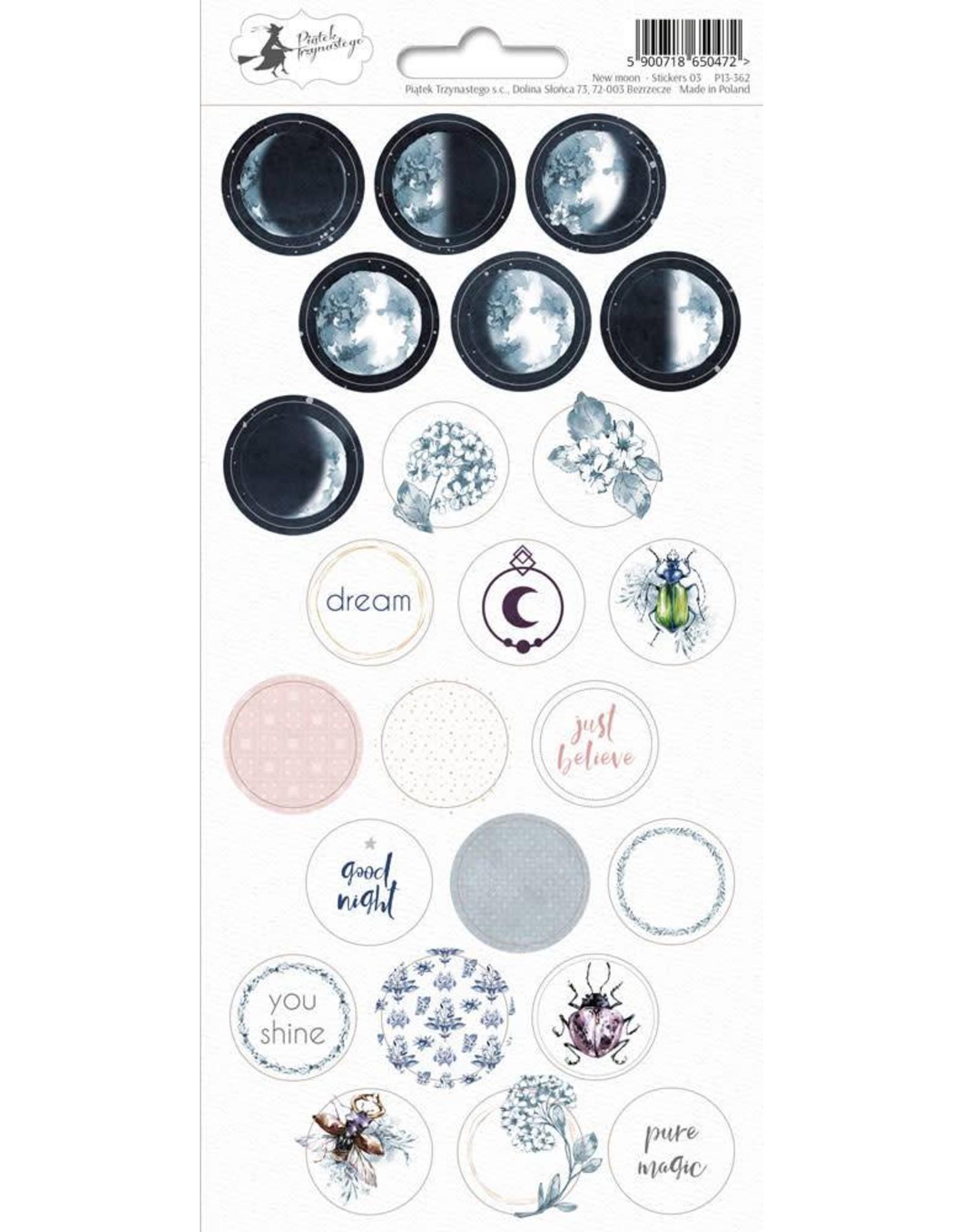 Piatek Piatek Sticker sheet New moon 03