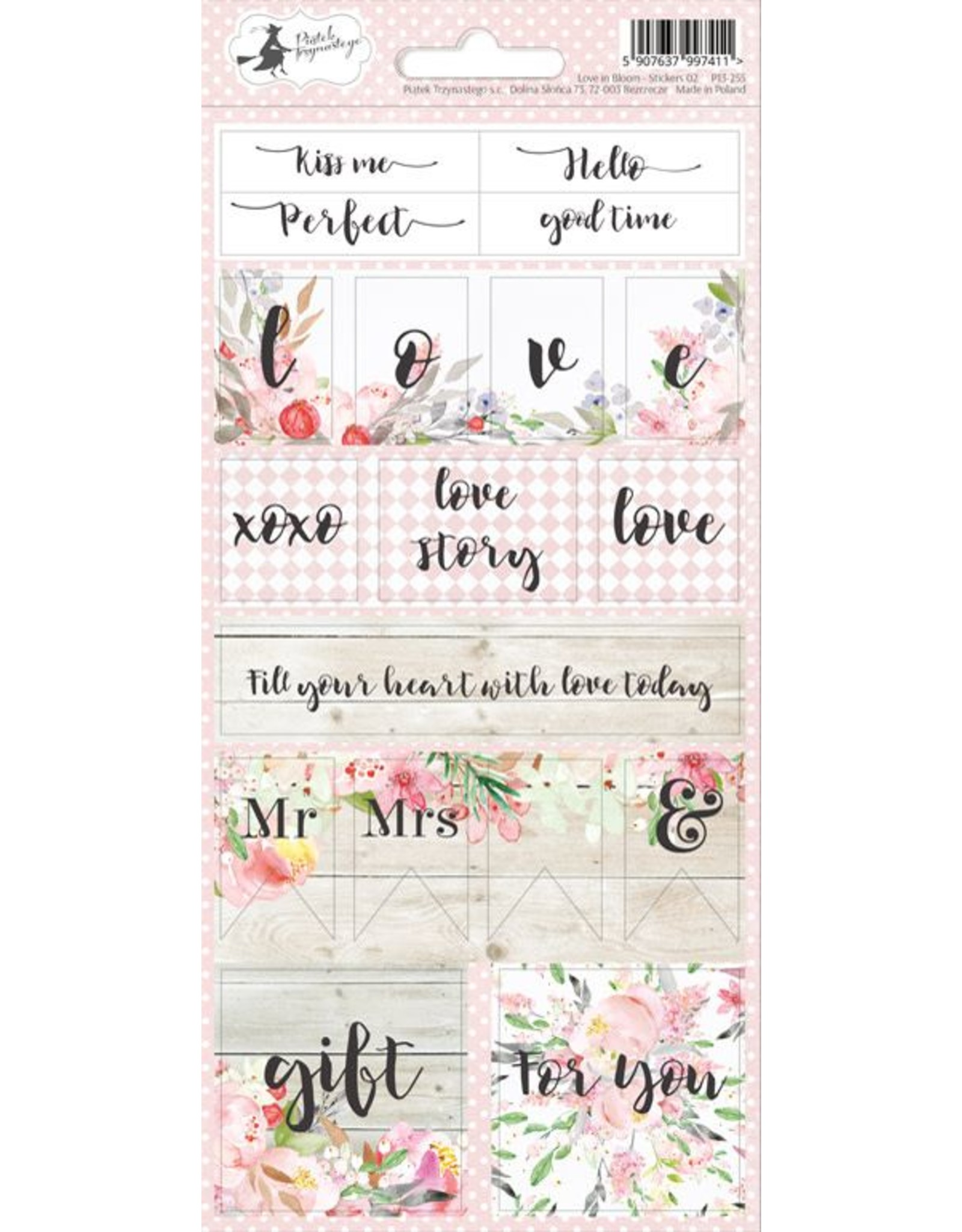 Piatek Piatek Sticker sheet Love in Bloom 02