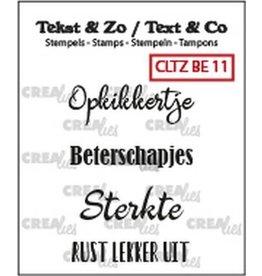 Crealies Crealies Clearstamp Tekst&Zo 4x Beterschap 11