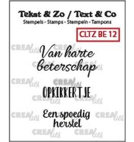 Crealies Crealies Clearstamp Tekst&Zo 3x Beterschap 12