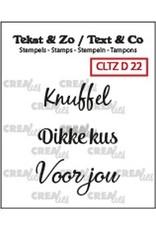 Crealies Crealies Clearstamp Tekst&Zo 3x Divers 22
