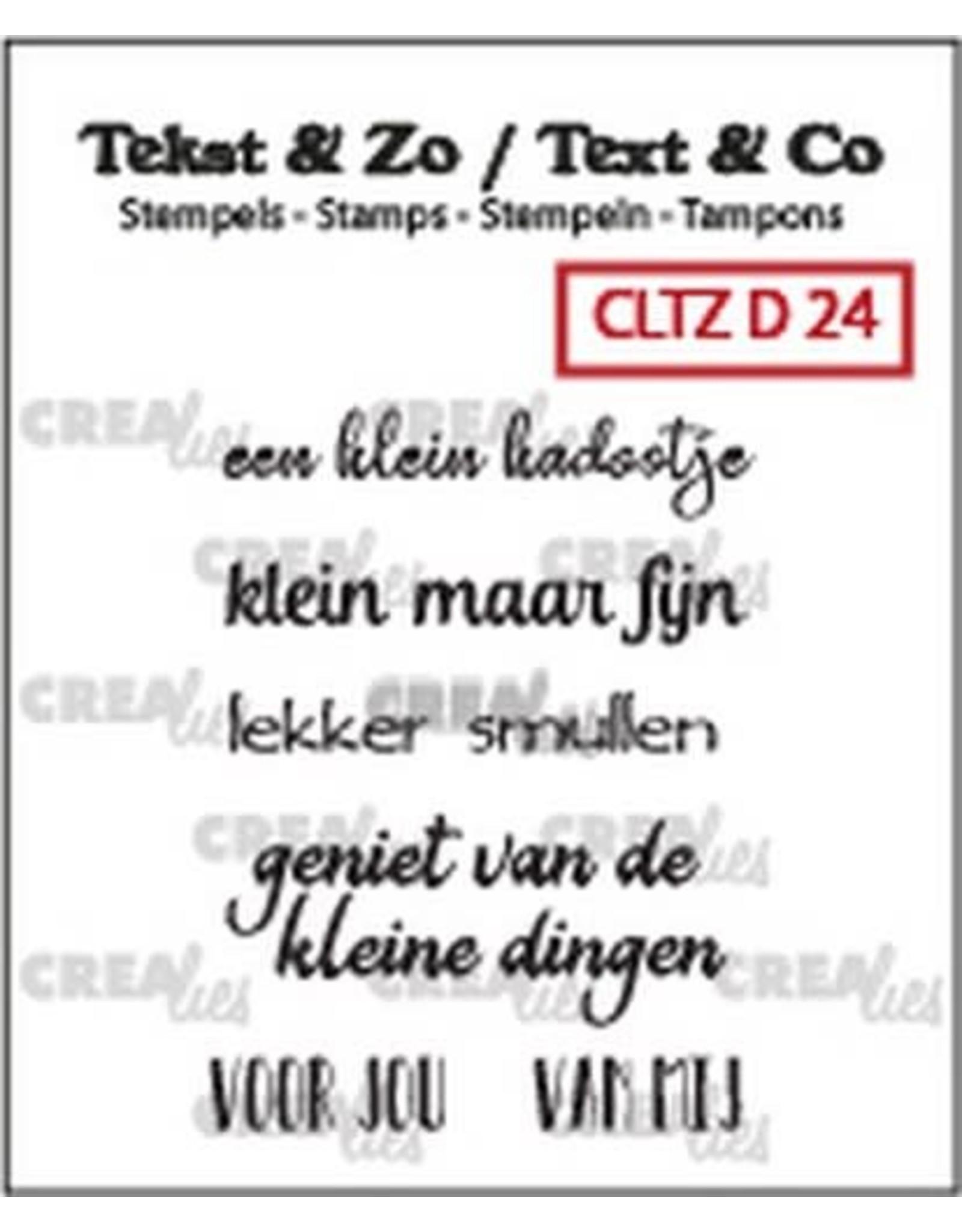 Crealies Crealies Clearstamp Tekst&Zo 5x Divers 24
