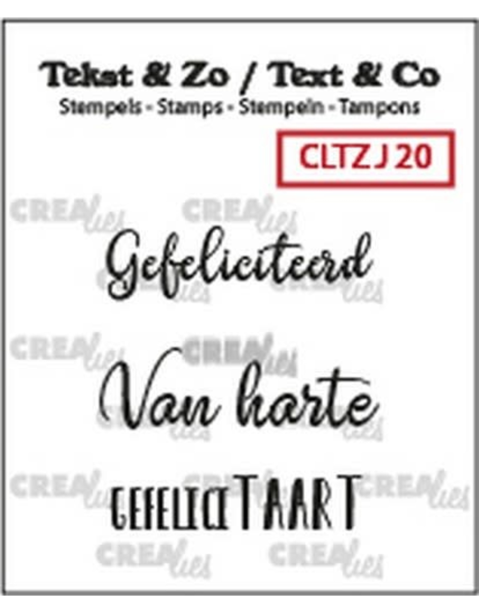 Crealies Crealies Clearstamp Tekst&Zo 3x Jarig 20