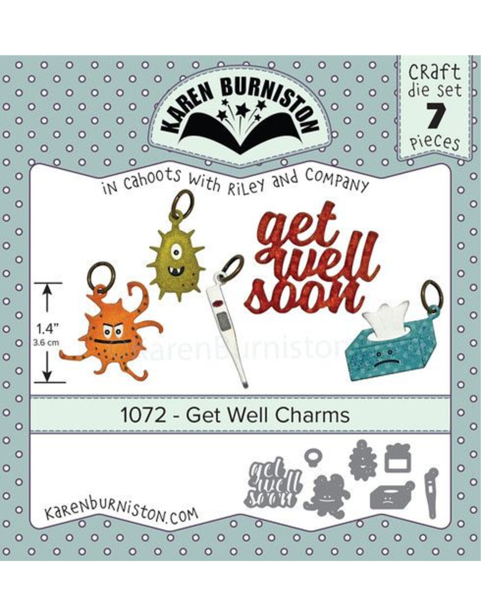 Karen Burniston Karen Burniston Get Well charms 1072
