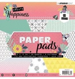 Studio Light Studio Light Paper Pad 36 vel Create Happiness nr 111 PPCR111 15x15cm