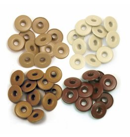 We R Memory keepers We R Memory Keepers wide eyelets x40 brown