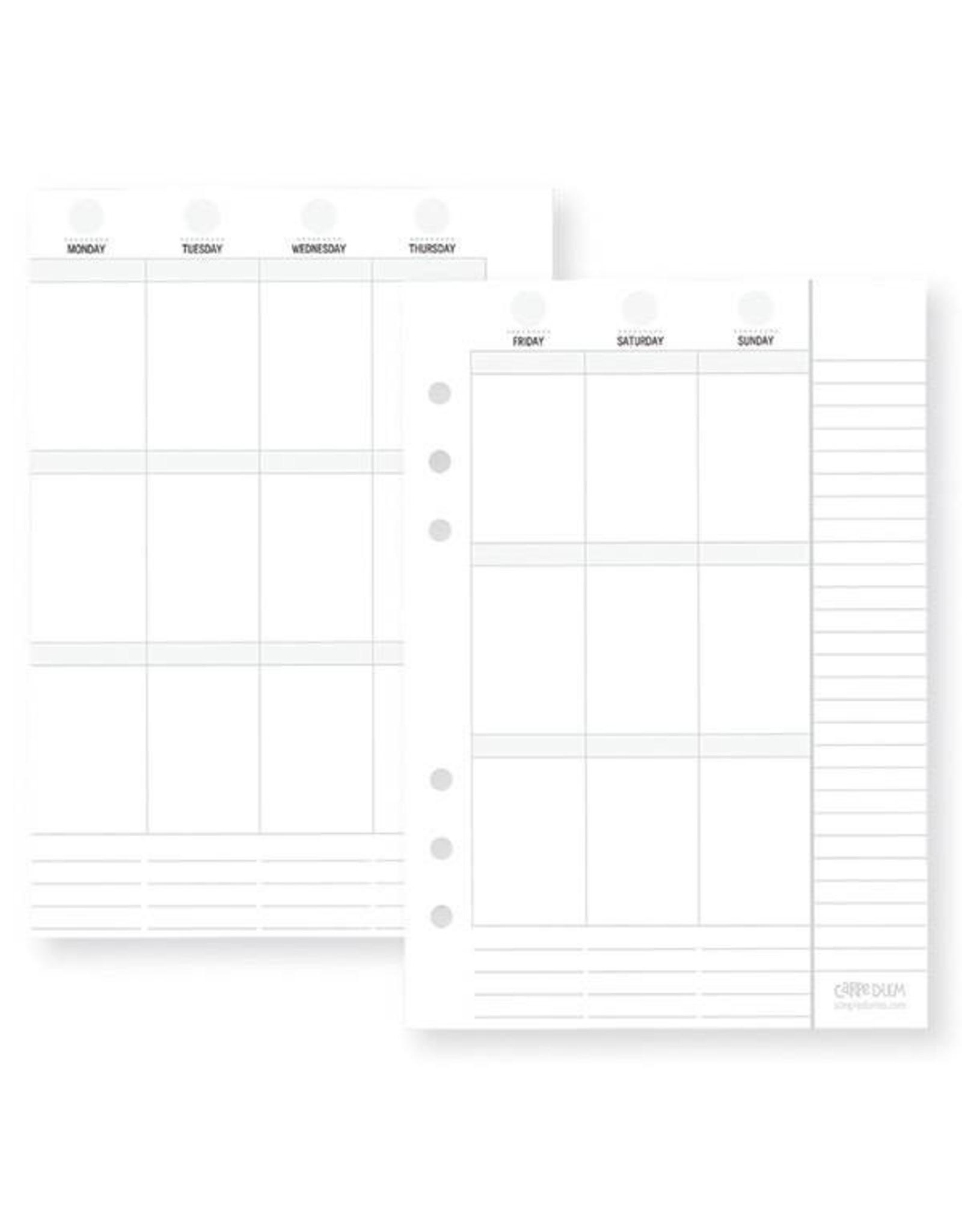 Carpe Diem Carpe Diem Planner Essentials A5 Vertical Format Weekly Inserts