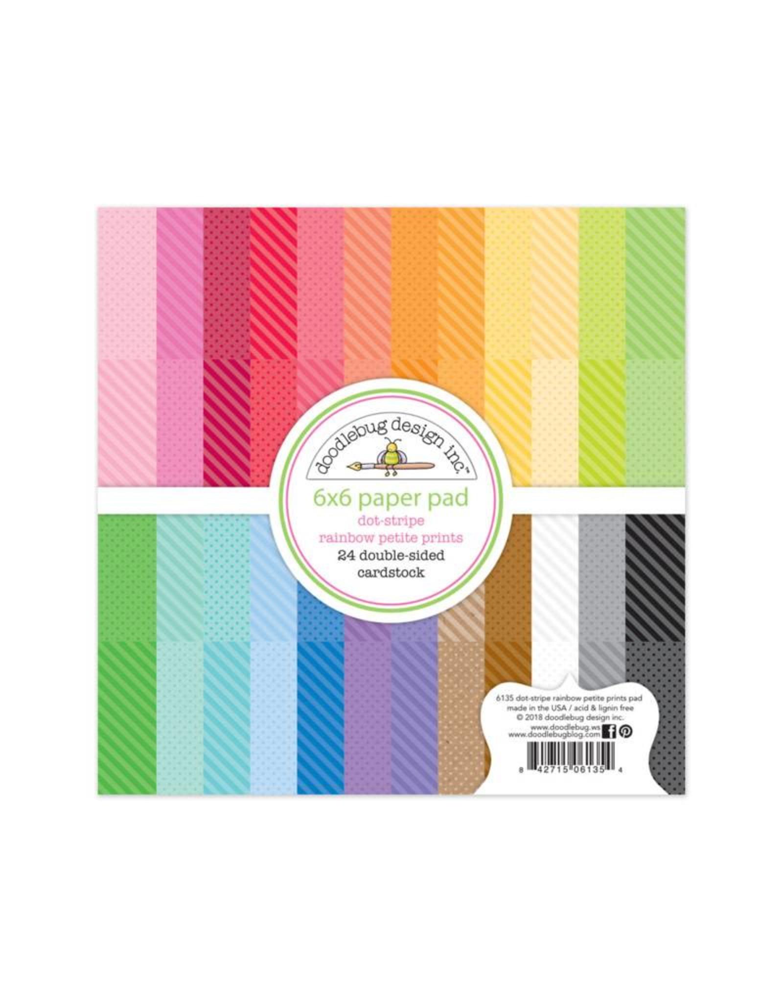 Doodlebug Doodlebug Dot-Stripe Rainbow Petite Prints 6x6 Paper Pad
