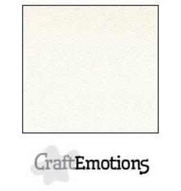Craft Emotions CraftEmotions fluweelstructuurkarton 10 vel wit 30,0x30,0cm 250gr