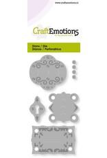 Craft Emotions CraftEmotions Die - vintage scharnieren en slotplaat Card 5x10cm