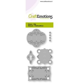 Craft Emotions CraftEmotions Die - vintage scharnieren en slotplaat Card 5x10cm