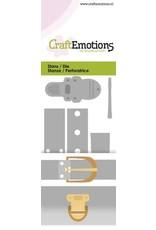 Craft Emotions CraftEmotions Die - vintage sluitingen - klinknagels Card 5x10cm