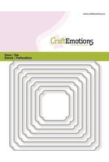 Craft Emotions CraftEmotions Die - randen vierkant double rounder/billenhoek Card 11x9cm - 3,1-9,1cm