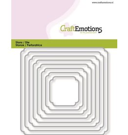 Craft Emotions CraftEmotions Die - randen vierkant double rounder/billenhoek Card 11x9cm - 3,1-9,1cm