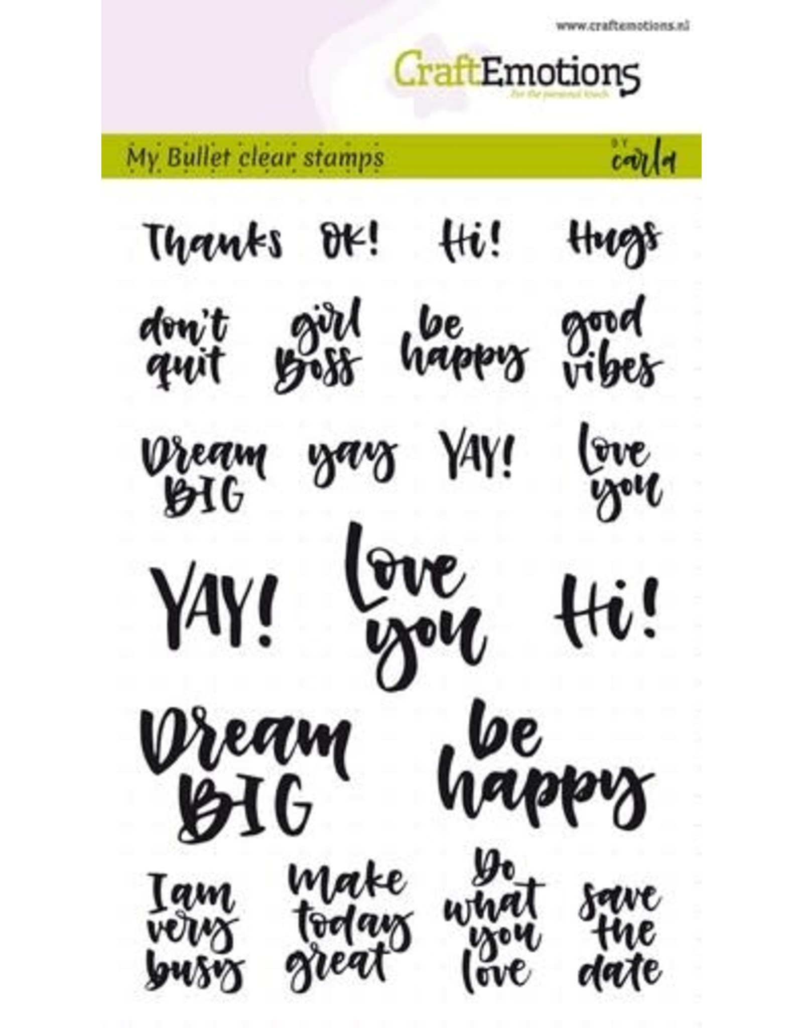 Craft Emotions CraftEmotions clearstamps A6 - Bullet Journal - quotes (Eng) Carla Kamphuis