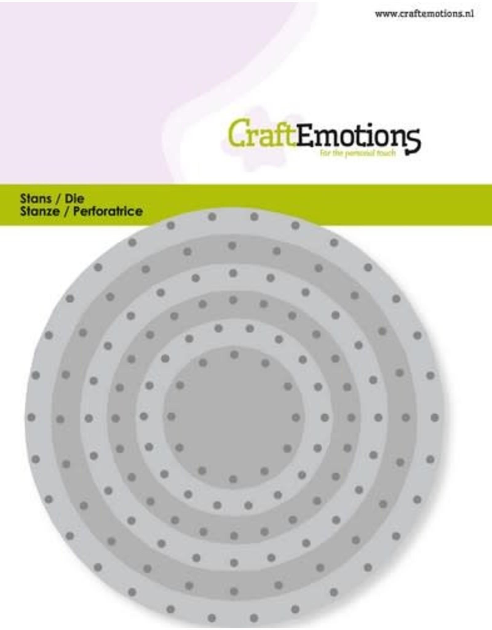 Craft Emotions CraftEmotions Die - cirkels vintage - klinknagels Card 11x9cm - 3,2-9,4cm