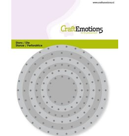 Craft Emotions CraftEmotions Die - cirkels vintage - klinknagels Card 11x9cm - 3,2-9,4cm