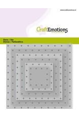Craft Emotions CraftEmotions Die - vierkanten vintage - klinknagels Card 11x9cm - 2,8-9,1cm