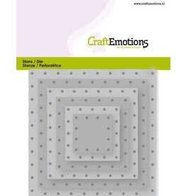 Craft Emotions CraftEmotions Die - vierkanten vintage - klinknagels Card 11x9cm - 2,8-9,1cm