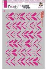 Pronty Pronty Mask stencil A5 Grunge Stripes 470.770.005 by Jolanda