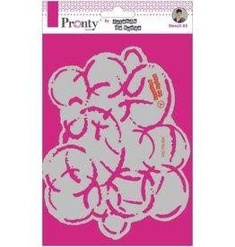 Pronty Pronty Mask stencil A5 Grunge circle 470.770.004 by Jolanda