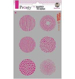 Pronty Pronty Mask stencil A5 Grunge Circles 470.770.002 by Jolanda