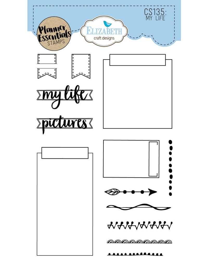 Elizabeth Craft Designs Elizabeth Craft Designs planner clearstamps My Life CS135