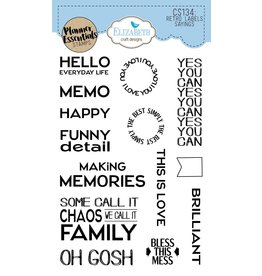 Elizabeth Craft Designs Elizabeth Craft Designs planner clearstamps Retro Labels Sayings CS134