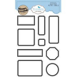Elizabeth Craft Designs Elizabeth Craft Designs planner clearstamps Retro Labels CS133