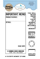 Elizabeth Craft Designs Elizabeth Craft Designs planner clearstamps Important Memo CS132