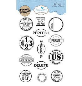 Elizabeth Craft Designs Elizabeth Craft Designs planner clearstamps Circle Labels CS131