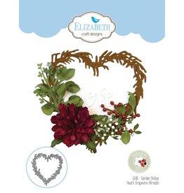 Elizabeth Craft Designs Elziabeth  Craft Designs Garden Notes - Heart Grapevine Wreath 1648