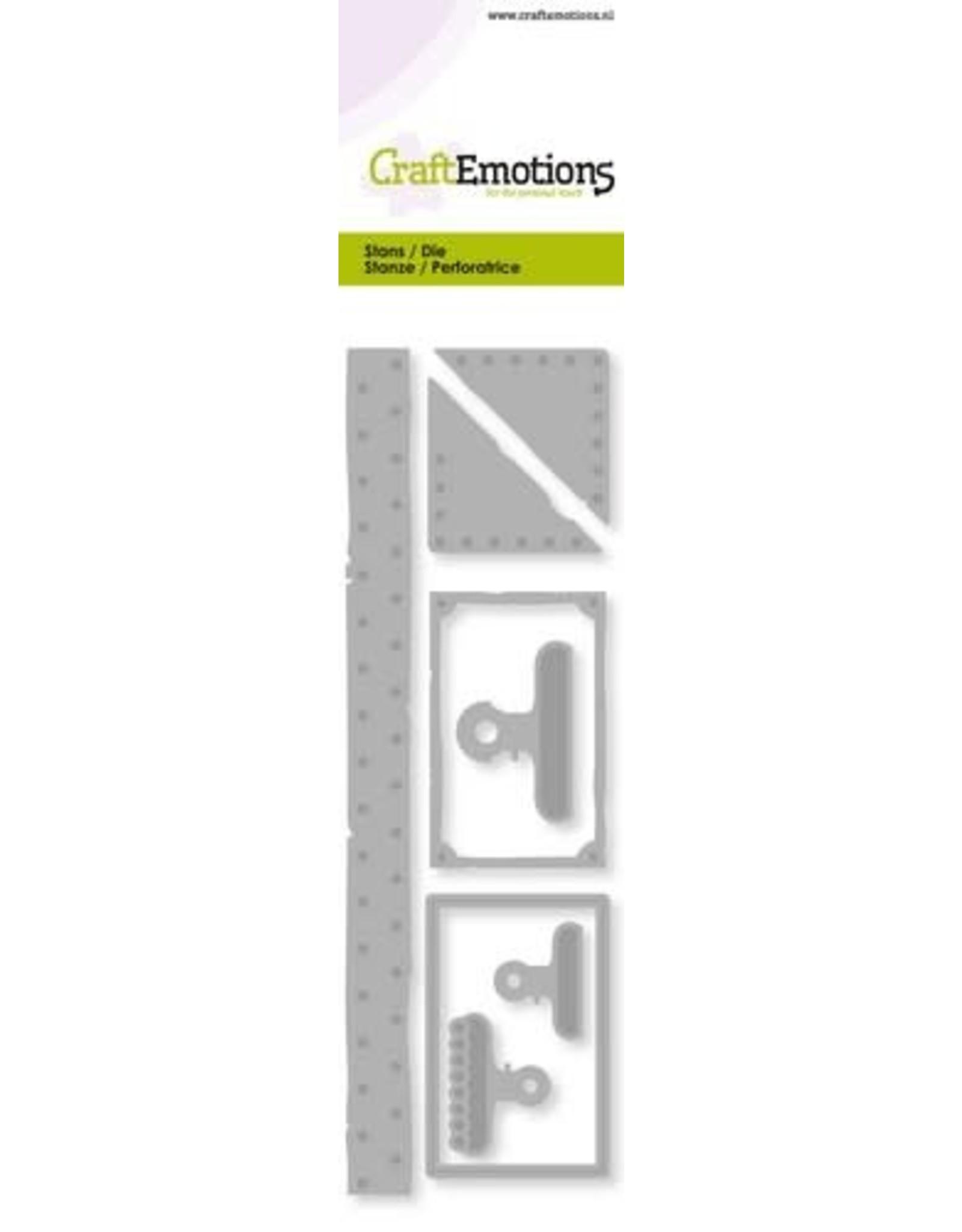 Craft Emotions CraftEmotions Die - vintage label - papierklem - klinknagel Card 5,0x16,0cm