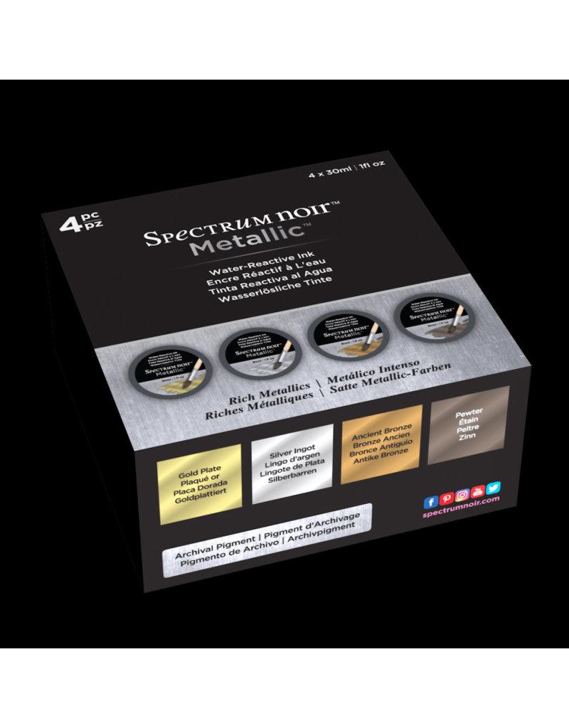 spectrum noir Spectrum Noir Metallic Vloeibare Inkt 30ml-Rich Metallics 4PC