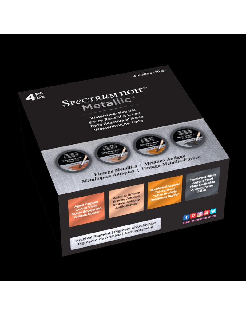 spectrum noir Spectrum Noir Metallic Liquid Ink 30ml - Vintage Metallics 4stk